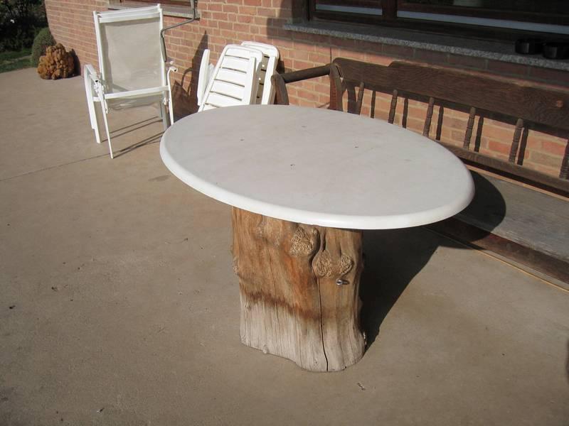 Neue tischplatte f rterrassentisch - Tischplatte ecke ...