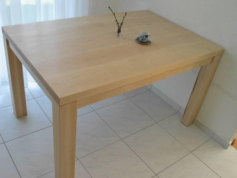 re ahorn tischplatte ist fertig. Black Bedroom Furniture Sets. Home Design Ideas