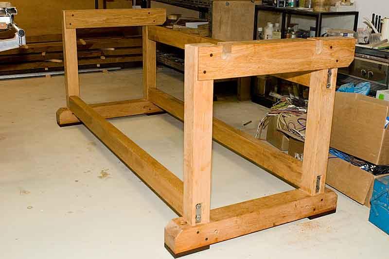 neue hobelbank untergestell ist fertig. Black Bedroom Furniture Sets. Home Design Ideas