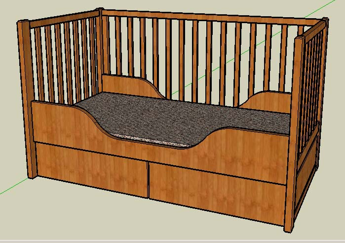 planung eines doppelbetts und eines kinderbetts. Black Bedroom Furniture Sets. Home Design Ideas