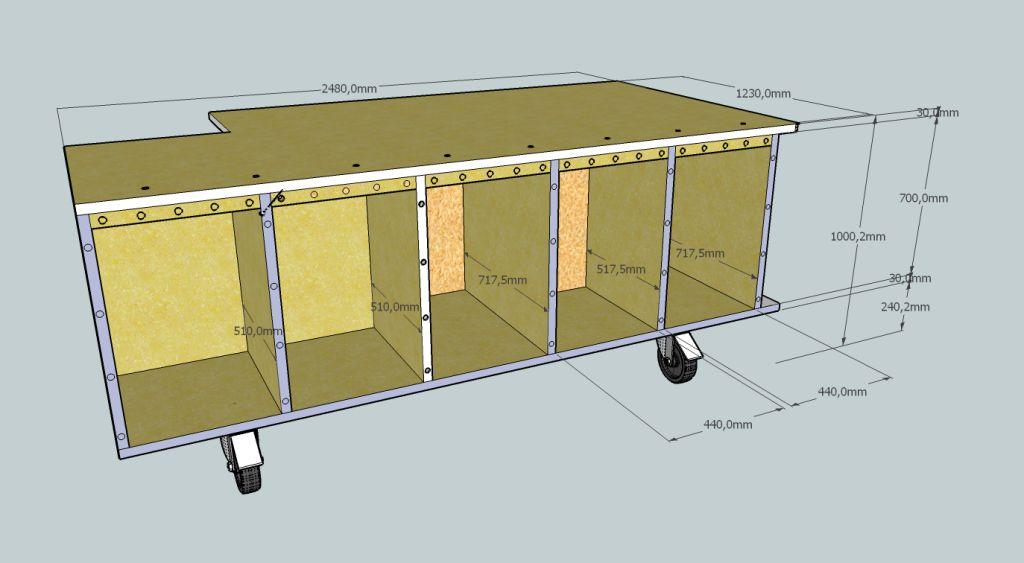 planung f r einen werktisch systainerport mit bild. Black Bedroom Furniture Sets. Home Design Ideas