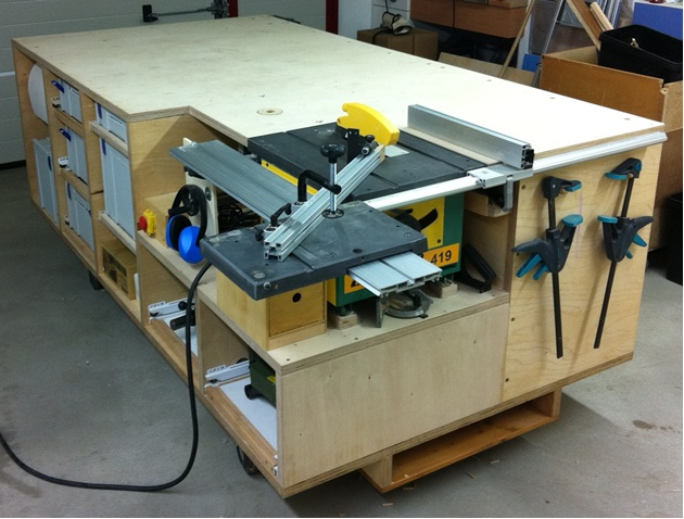 Rolling workbench systainer port tablesaw and router for Router work table