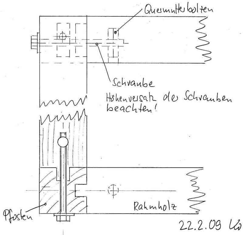 Eckverbindung von 3 balken geschraubt bild for Biegesteifer rahmen